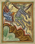 Unknown 12th Century English Illuminator - The Third Temptation