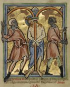 Unknown 12th Century English Illuminator - The Scourging of Christ
