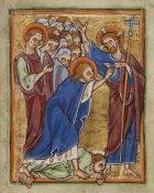 Unknown 12th Century English Illuminator - Doubting Thomas
