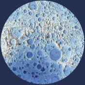 United States Geological Survey - Unmarked Decorative Topographic Map of the Moon, South Pole