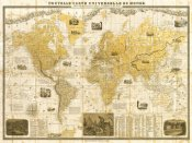 Joannoo - Gilded 1859 Map of the World