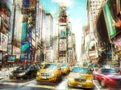 Peter Berry - Times Square Multiexposure I
