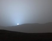 Curiosity - Martian Sunset in Gale Crater, April 15, 2015