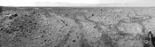 NASA - Mars Gale Crater with Tire Tracks -  Panoramic Mosaic, August 15, 2014