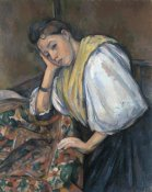 Paul Cezanne - Young Italian Woman at a Table