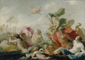 Eustache Le Sueur - Marine Gods Paying Homage to Love