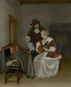 Gerard ter Borch - The Music Lesson
