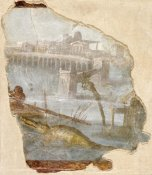 Unknown 1st Century Roman Artisan - Fresco Fragment with Nilotic Landscape