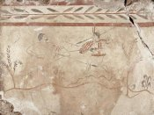 Unknown 4th Century BCE Greek Artisan - Fresco Panel with Two Warriors