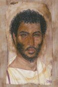 Unknown 2nd Century Romano-Egyptian Artisan - Mummy Portrait of a Bearded Man