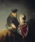 Workshop of Rembrandt Harmensz van Rijn - A Young Scholar and his Tutor