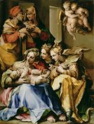 Nosadella - Holy Family with Saints Anne, Catherine of Alexandria, and Mary Magdalene