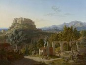 Leo von Klenze - Landscape with the Castle of Massa di Carrara