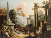 Marco Ricci - Landscape with Classical Ruins and Figures