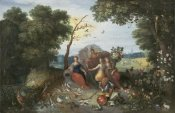 Jan Brueghel the Younger - Landscape with Allegories of the Four Elements