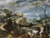 Unknown 16th Century Flemish Painter - Landscape with Mercury and Argus
