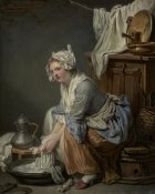 Jean-Baptiste Greuze - The Laundress (La Blanchisseuse)