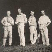 A.G. Spalding Baseball Collection - Cricket Players, Unidentified Group Of Four