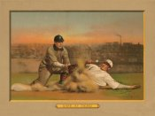 American Tobacco Company - Safe at Third, Baseball Card