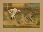 American Tobacco Company - Out at Third, Baseball Card