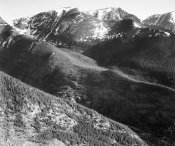 Ansel Adams - Hills and mountains, in Rocky Mountain National Park, Colorado,  ca. 1941-1942