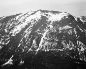 Ansel Adams - Full view of barren mountain side with snow, in Rocky Mountain National Park, Colorado, ca. 1941-1942