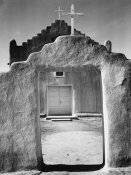 Ansel Adams - Front view of entrance, Church, Taos Pueblo National Historic Landmark, New Mexico, 1942