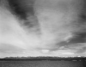 Ansel Adams - Wider strip of mountains, Yellowstone Lake, Yellowstone National Park, Wyoming, ca. 1941-1942