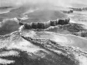 Ansel Adams - Aerial view of Jupiter Terrace, Yellowstone National Park, Wyoming ca. 1941-1942