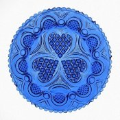 Unknown 19th Century American Glassmaker - Roman Rosette Tea Plate