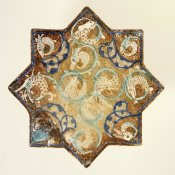 Unknown 13th Century Persian Artisan - Star Tile with Animal Motifs