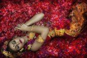 Taman Tan - Balinese Woman Among The Flowers