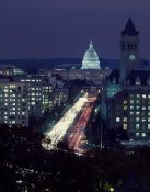 Carol Highsmith - Dusk view of Pennsylvania Avenue, America's Main Street in Washington, D.C.
