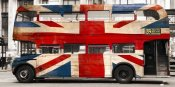 Pangea Images - Union jack double-decker bus, London