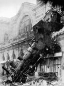 Anonymous - Train wreck at Montparnasse, Paris, 1895