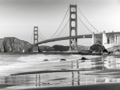 Anonymous - Baker beach and Golden Gate Bridge, San Francisco
