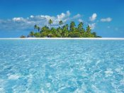Frank Krahmer - Tropical lagoon with palm island, Maldives