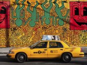Michel Setboun - Taxi and mural painting, NYC