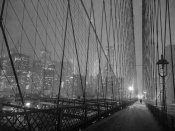 Michel Setboun - On Brooklyn Bridge by night, NYC