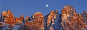 Frank Krahmer - Pale di San Martino and moon, Italy