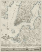 New York Common Council - Plan of the City of New York, copied from the Ratzger Map - Decorative Blue Shading
