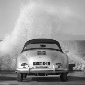 Gasoline Images - Ocean Waves Breaking on Vintage Beauties  (BW detail 2)