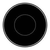 BG.Studio - Mealtime: Black on White - Plate