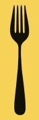 BG.Studio - Mealtime: Black on Yellow - Fork
