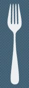 BG.Studio - Mealtime: White on Blue with Dots - Fork