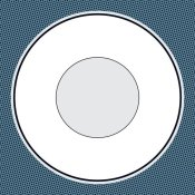 BG.Studio - Mealtime: White on Blue with Dots - Plate