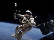 NASA - Astronaut Edward White during first EVA performed during Gemini 4 flight