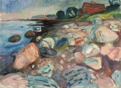 Edvard Munch - Shore with Red House, 1904