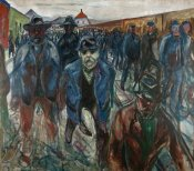 Edvard Munch - Workers on their Way Home, 1913-1914
