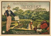 Unknown 20th Century American Artist - Uncle Sam says - garden to cut food costs, 1917